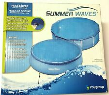 NEW Polygroup Summer Waves Round Solar Ground for Easy Round Metal Frame Pool