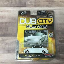 WHITE INFINITI G35 2005 KUSTOMS DUB CITY JADA TOYS 1/64 DIECAST SEALED