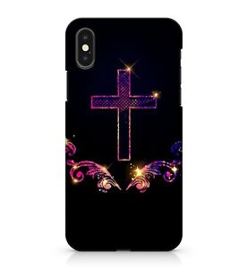 Magical Starry Mixed Purple Cross Christianity Holy Scripture Phone Case Cover