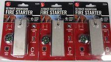 3 Pack Magnesium Fire Starter & Flint Striker Outdoors Emergency Survival Gear