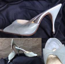 Vtg 50s Mandels Spring-o-lator high heel stiletto mule shoe Charm Step 7.5M