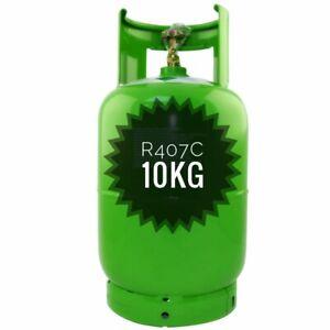 GAS REFRIGERANTE R407c 10KG RECARGABLE ACONDICIONADO ENVIO 24 HORAS