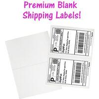 USA Premium Self Adhesive Shipping Labels 8.5x11 Half Sheet Mailing UPS FEDEX