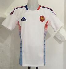FRANCE rugby player issue alt 7'S Jersey Par Adidas Taille 46 in (environ 116.84 cm) poitrine NEUF