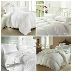 SOFT HOTEL QUALITY DUCK FEATHER DUVET QUILT 13.5 TOG,PILLOW EXTRA FILLING