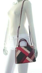 NWT$368.00 Michael Kors Adele Medium Messenger Leather Bag Mulberry Multi