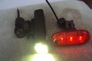 ETC capella 800 lumun usb front bike light & cateye omni 3 led rear light set