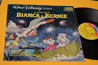 LP LE AVVENTURE DI BIANCA E BERNIE 1°ST ORIG ITALY 1977 EX WALT DISNEY TOP