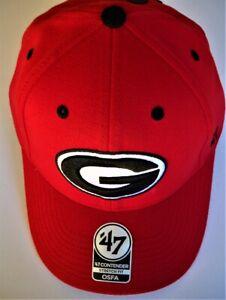GEORGIA UGA BULLDOGS ADULT STRETCH FLEX 1-FIT CAP HAT WITH STITCHED OVAL G LOGO