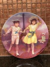 1985 Collector Plate Limoges Turgot Patinage au Trocadero  AH 865