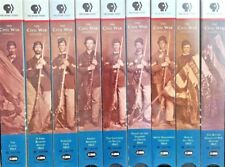 The Civil War PBS Home Video  VHS  Ken Burns Color and B and W  680 Min 9 Tapes