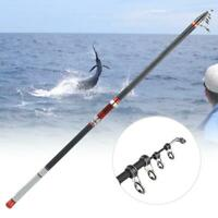 High Carbon Superhard Telescopic Fishing Rod Portable Long Shot Fishers Tackle