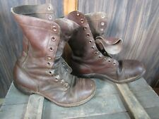 WWII Korea Jump Combat Boots Originals Russet Leather named (10 R)