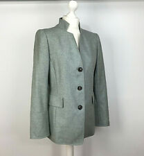 Akris Blazer Coat UK Size 12 Mint Green Button Down Pockets Cashmere