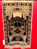 Prayer Rug Carpet Islamic Mosque Muslim Salah Meditation Mat Portable 46'' x 26'