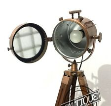 LED Dim Night Bedside Focus Floor Lamp Stand Tripod Vintage Style Search light