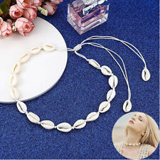 Women Beach Bohemian Sea Shell Pendant Chain Choker Necklace Fashion Jewelry