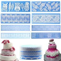DIY Silicone Lace Fondant Mold Mousse Sugar Craft Pastry Cake Decorating Tools