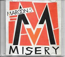 MAROON 5 - Misery PROMO acetate CD SINGLE 1TR (UNIVERSAL) 2010 RARE!