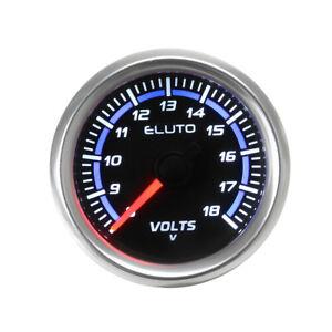 """2"""" 52mm Universal Car Auto Voltmeter Volt Voltage Gauge Meter 8-18V LED Display"""