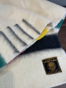 Original  Witney (4)  Four Point Striped Wool Blanket--Made In England-VERY NICE