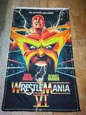 "WWF Wrestling - WWF, WWE, WCW ""Wrestle Mania VI ""3*5 ft Flag Banner"