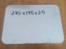 270mm x 195mm x 2.5mm Aluminium Flat Bar Strips Rectangle Sheet