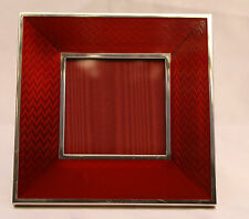 MAGNIFICENT 1900'S ITALIAN STERLING SILVER ENAMELED PICTURE FRAME