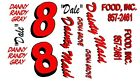 #8 Dale Earnhardt Dainty Maid 1965 Chevelle 1/43rd Scale Slot Car Decals