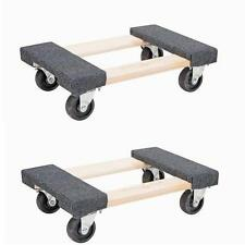 """2x 18"""" Heavy Duty Mover's Dolly 1000lb Moving Furniture Appliance Equipment"""