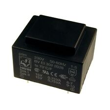 Hahn Print Trafo 230V Printtrafo 1,5VA 2x 15V Netztrafo Transformator 098306