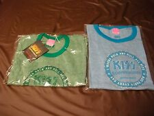 KISS COFFEEHOUSE GREEN+BLUE SAWBLADE BABYDOLL T-SHIRTS(NEW)