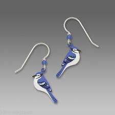 Blue Jay EARRINGS by Sienna Sky STERLING Silver Earwires Bird Dangle - Gift Box