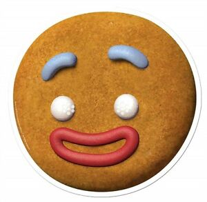 Gingerbread Man Gingy from Shrek Single Card Party Fun Face Mask