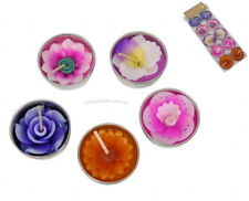 10pce Scented Flower Candles Tea Lights Gift Pack