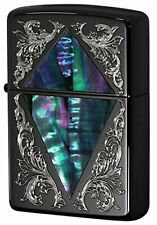 ZIPPO Oil Lighter Shell Series Black Nickel Plating Etching 2BKSHELL-ACDIA Japan