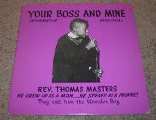 Your Boss And Mine Rev Thomas Masters~RARE 14 Year Old Preacher Sermon Spiritual