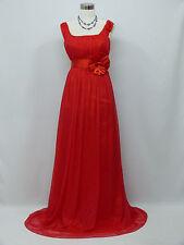 Cherlone Plus Size Chiffon Red Long Ballgown Wedding Evening Bridesmaid Dress 22