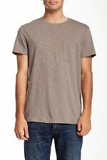 NWT AUTHENTIC Mens VINCE Crew Neck Slub Knit Pocket Tee Olive  SZ Small
