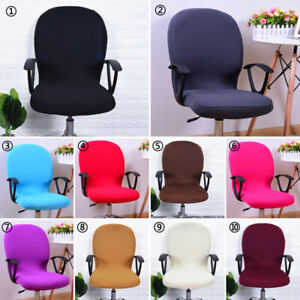 Swivel Computer Office Chair Cover Stretch Desk Elastic Rotating Seat Slipcover