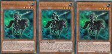 YUGIOH CARD - 3 X IRON KNIGHT -  BLRR-EN007 -  ULTRA  RELENTLESS REVENGE