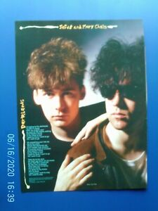 JESUS AND MARY CHAIN - DARKLANDS - A4 POSTER PAGE  Original 1980s