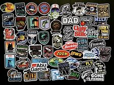 Lot of 50 Vintage Fishing Stickers Fish USA Label Decal Reel Travel Toolbox