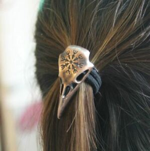 Viking Skull Crow Style Hairwear Nordic Hair Lace - UK Seller