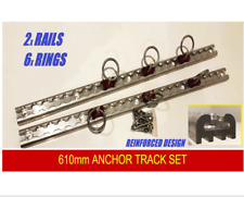 New reinforced 610mm Anchor Track Aluminium 2 Track 6 Rings Tie Down Ute Rail