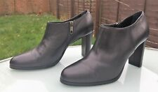 L.K. Bennett Ankle Heeled Shoe Boots - Eu 40 / UK 7 - Soft Black Leather - VGC