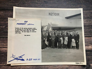 Vintage Piedmont Airlines Group Photograph Raleigh ORF TYS Inaugural Flight