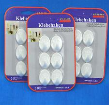 18 Stück haken klebehaken selbstklebend wandhaken handtuchhalter weiß oval