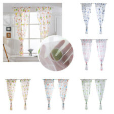 Floral Room Door Sheer Voile Window Panel Valances Scarf. Tulle Curtain Drape