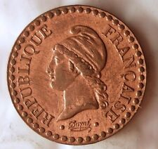 1850 FRANCE CENTIME - AU with RED - Awesome Gem Coin- FREE SHIP WORLDWIDE - HV25